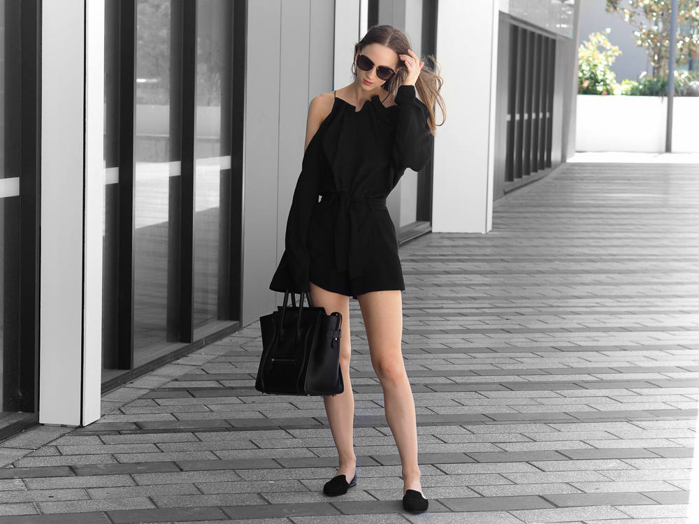 Finders Keepers Marcel Top All Black Minimal Outfit Fashion Blogger