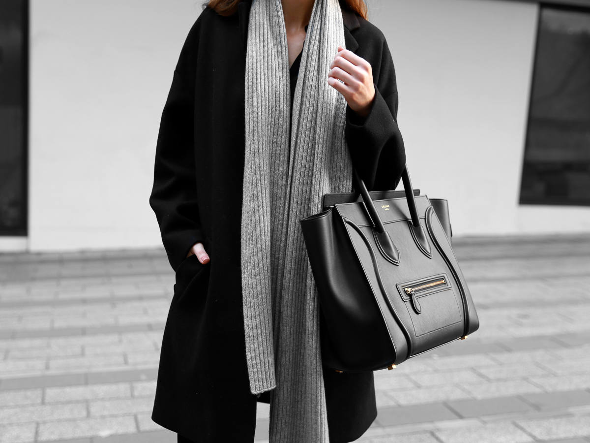 Everlane Cashmere Scarf Celine Mini Luggage Bag
