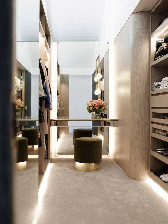 20 dreamy walk in closet ideas from luxe with love for His and hers wardrobe