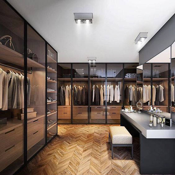 20 dreamy walk in closet ideas from luxe with love for Bedroom designs with attached bathroom and dressing room